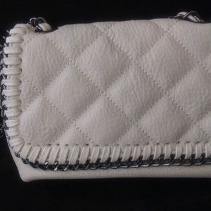 Steve Madden Small White Leather Crossbody